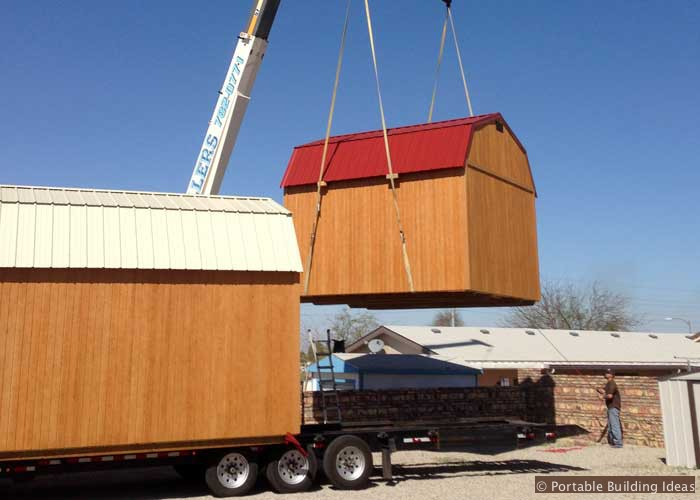 Lifting A Storage Shed For Delivery